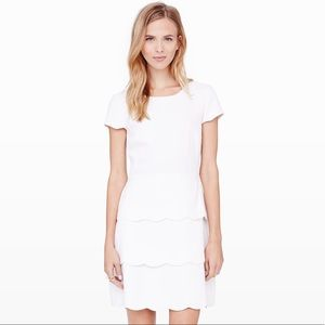 Club Monaco Colby Off White Scalloped Layer Dress